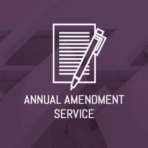 Annual Amendment Service
