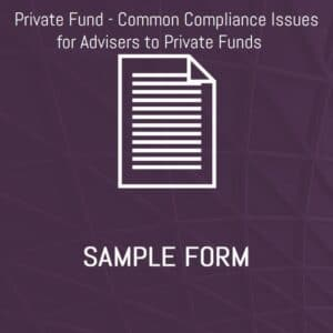 Private Fund Sample Form Image