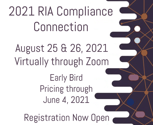 Flyer for 2021 RIA Compliance Connection