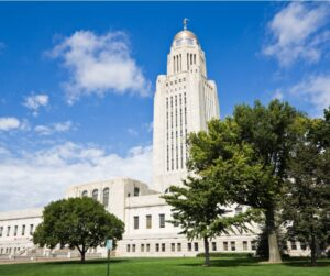 Nebraska state capitol building in Lincoln, Nebraska