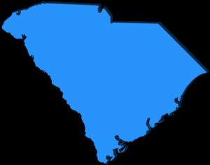 Blue image of South Carolina