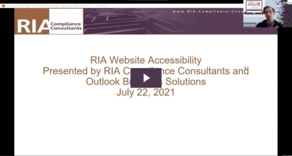 RIA Website Accessibility Webinar